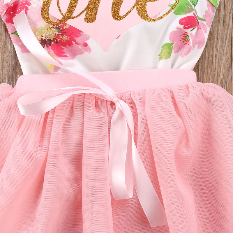 New Fashion Newborn Baby Girl Clothes Set Cotton Princess Floral Romper Tops Tulle Tutu Skirt Outfits