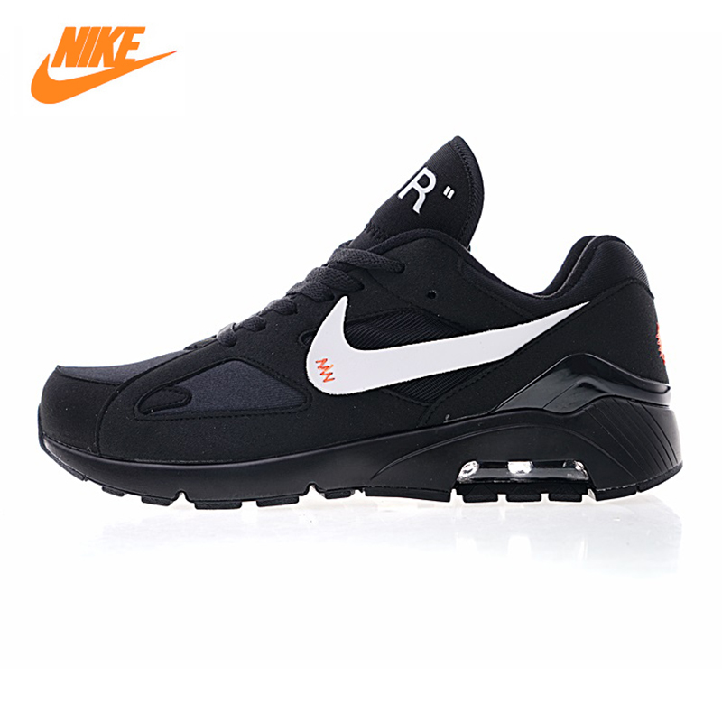 Кроссовки NIKE AIR MAX 180 X Off White Для мужчин кроссовки, черный, амортизация износостойкие легкая дышащая AQ5287 001