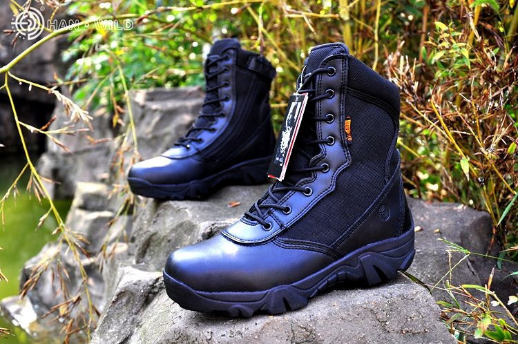 Quality Outdoor Hiking Shoes Professional Desert Military Tactical Boots Leather Wearable Breathable Police Combat Army Boots цена