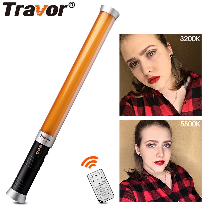 Travor MTL-900D LED Video Light Magic Tube light /photography lighting Bi-color 3200K-5500K 298pcs leds + AC Power adapter travor tl 600a 2 4g kit bi color led video light 3200k 5500k for photography shooting three light 6pcs battery 3 light standing