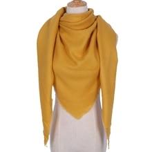 LARRIVED Fashion Winter Scarf For Women Acrylic Warm Plaid Pashmina Brand Blanket Wraps Female Scarves And Shawls