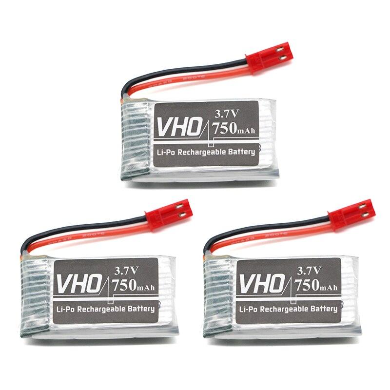 2pcs 3.7V 750mAh 25C Li-po Battery for MJX X400 X800 X500 X300C RC Quadcopter