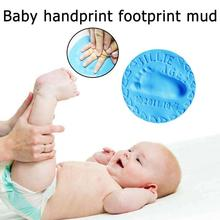 Baby Hand Foot Footprint Toy Seal Kit Casting DIY Toys Inkpad Ultra Light Stereo Baby Care Air Drying Soft Clay Baby Handprint