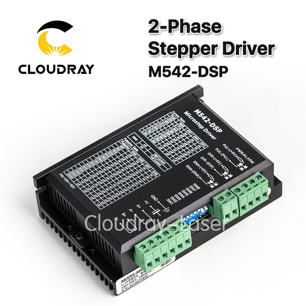 2-Phase Stepper Motor Driver M542-DSP 24-50VDC Output 4.2A Current NEMA 23 Motor CNC Micro-Stepping replace M542,2M542 leadshine 2 phase microstep driver m542 05 step motor driver 20v 50vdc 1 2a 5 04a for cnc router