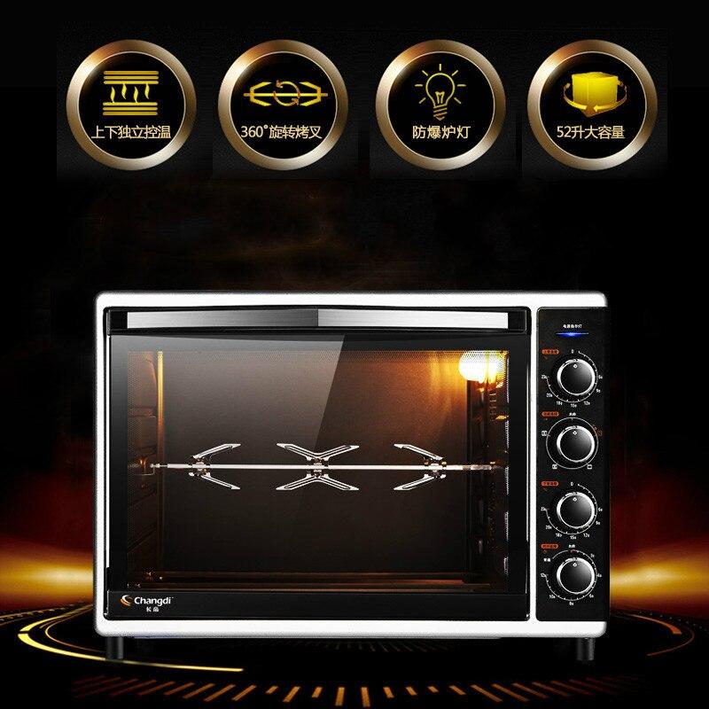 Four électrique 52 litres grande capacité four à domicile multifonctionnel usage Commercial Machine de cuisson avec Six Tubes 2000 W haute puissance