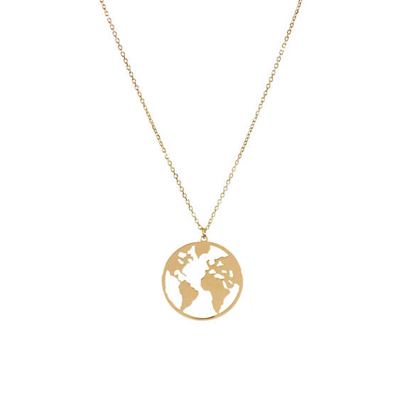 World map necklace geometry pendant necklace globetrotter necklace world map necklace geometry pendant necklace globetrotter necklace gumiabroncs Gallery