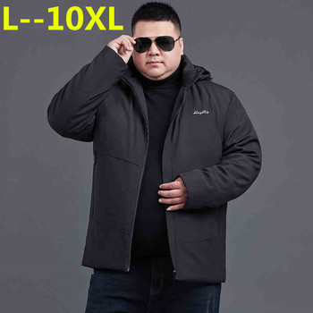 10XL 8XL 6XL 5XL New 2018 Brand Jacket Men Winter Jacket Big Size New Arrival Casual Cotton With Hooded Parkas Casaco Masculino