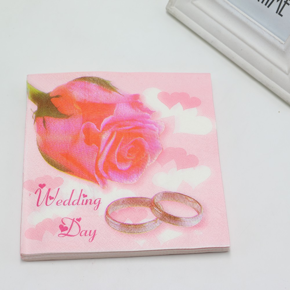 Baby Shower Paper Rose And Ring Theme Napkins Kids Favors Happy ...