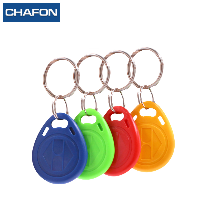 10pcs rfid 125khz writable tag EM4305  Proximity Access control ID tag keyfobs token works with 125khz copier free shipping 10pcs 125khz rfid proximity id token tag key keyfobs keychain chain plastic for access system green color