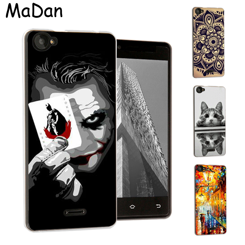 "Cool Design Cover til BQ BQS-5060 Slim Case 5,0 ""Farverigt mønster blødt silikone TPU Cover Cover til BQ BQS 5060 Slim Phone Cases"