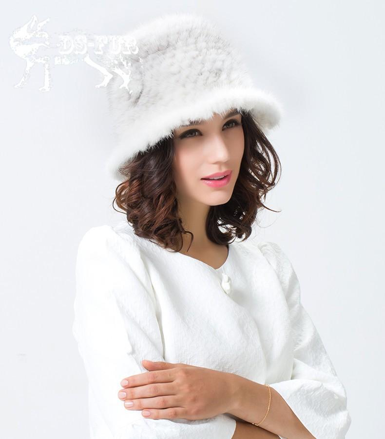 Weave real mink fur hat02