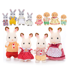 Sylvanian Families Dollhouse Furry Animal Figure Family Set Hamster/Bear/Dogs/Cat/Sheep/Deer New(China)