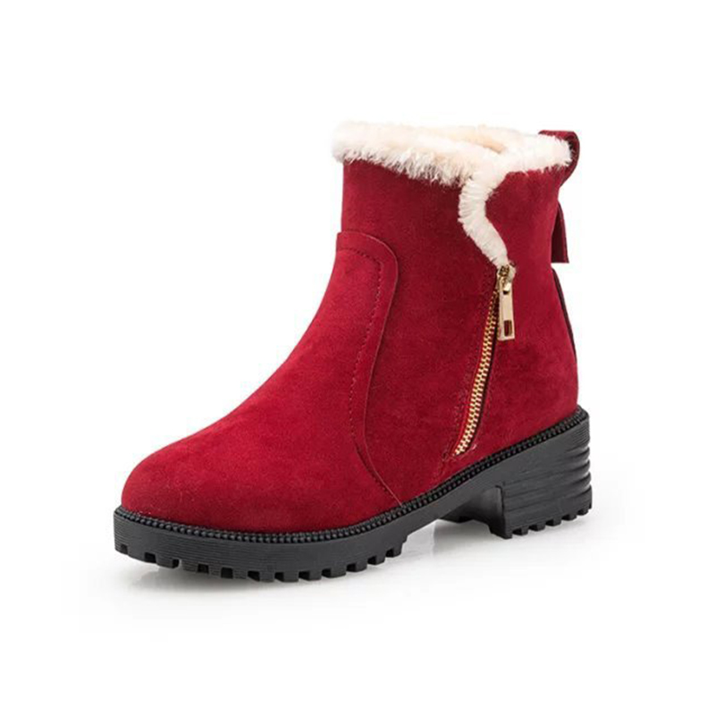 Fashion Women Winter Snow Boots Warm Suede Platform Round Toe Ankle Boots For Women Martin Boots Shoes fashion winter women martin boots round