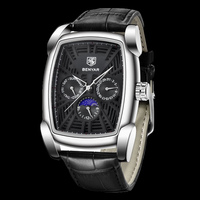 Оригинальные новые мужские часы BENYAR Топ бренд класса люкс хронограф мужские часы Кожа Роскошные водонепроницаемые спортивные часы мужские...