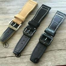 Luxury Band,22mm Super Flexibility and Durability Leather Strap for IW Portofino Pilot Portuguese Watch