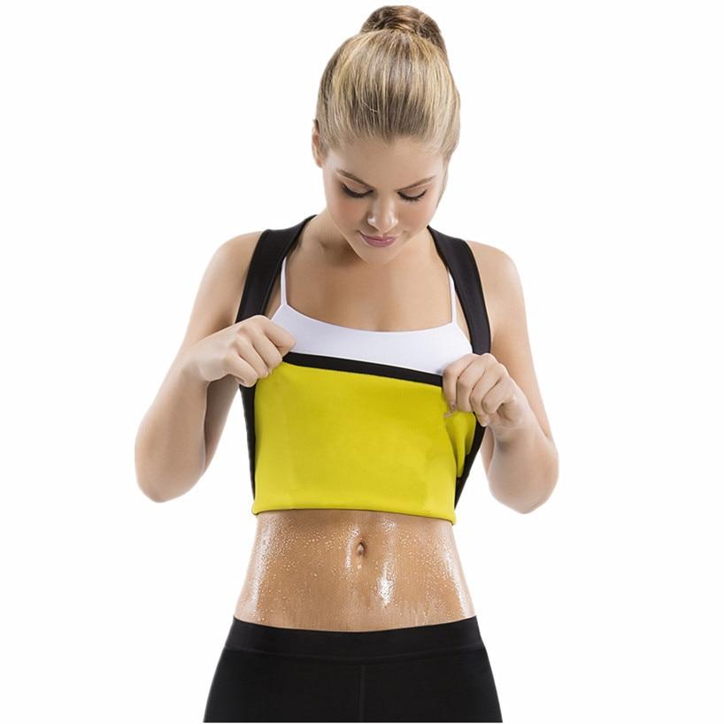Womens Shaper Neoprene Sweat Sauna 2019 Body Shapers Vest Waist Trainer Slimming Shirt Shapewear Weight Loss Waist Shaper Corset