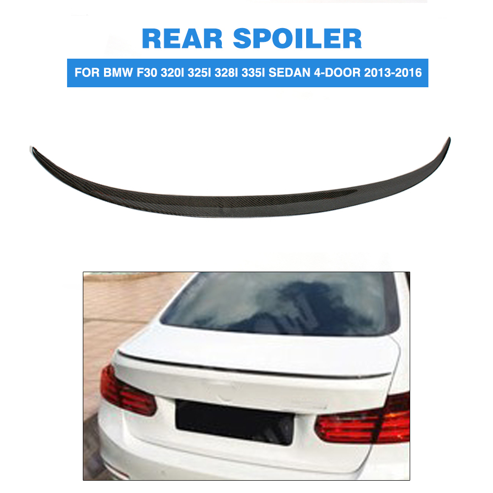 Carbon Fiber Rear Spoiler Trunk Boot Lip Wing For BMW 3 Series F30 320i 325i 328i 335i Sedan 4-Door 2013-2016 Car Tuning Parts