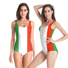 цена на Hot Style World Flag Women Swimsuit Bathing Suit 3D Printed Beach Wear Sexy Backless One Piece Swimwear Bathing Suit Women
