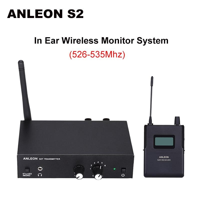 Für ANLEON S2 Stereo Wireless Monitor System Drahtlose Kopfhörer Mikrofon Sender System 561 568Mhz 100 240V NTC Antenne Kit-in Smarte Fernbedienung aus Verbraucherelektronik bei  Gruppe 1