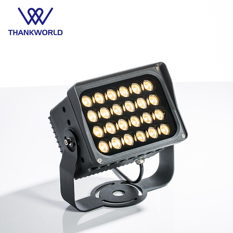 Modern LED Projector 24W Spotlight Waterproof Led Flood Light ip65 Outdoor Lighting for Building cree led floodlight wall washer ultrathin led flood light 200w grey ac220v 230v 240v waterproof ip65 floodlight spotlight outdoor lighting free shipping