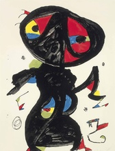 Canvas Art Picture Print Painting Famous Joan Miro Oil on Abstract Wall Home Decor