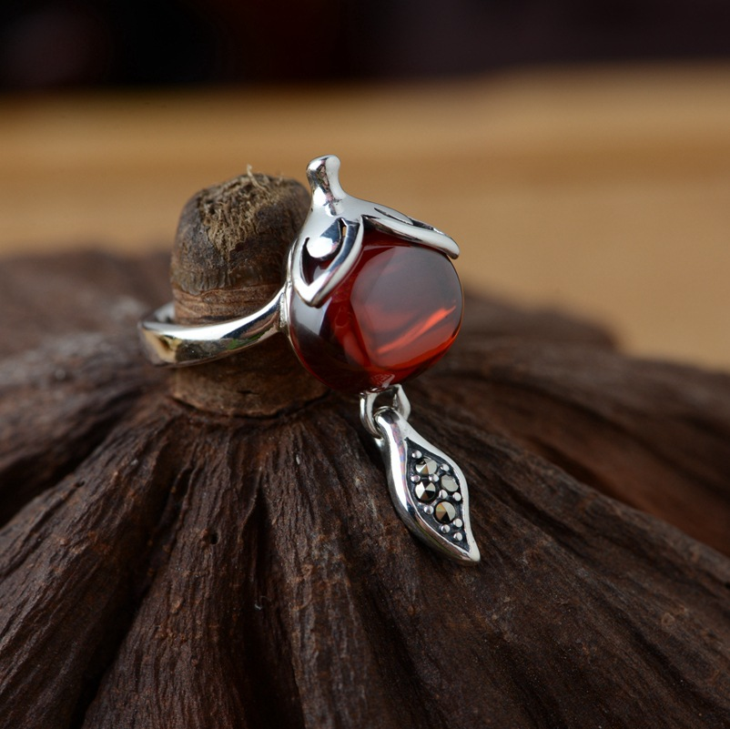sterling silver ring wholesale silver style female fox Wang popularity