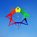 Fácil Voar 3D Rainbow Flower Forma Única Linha de Pipa Pipa Ao Ar Livre Divertido Brinquedo Caçoa o Presente Emmakites Marca