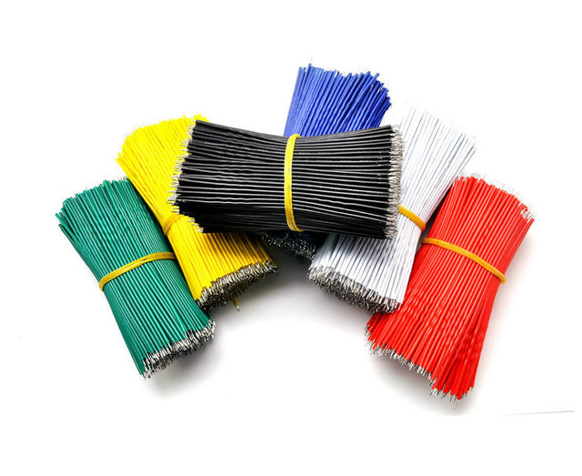 F292 20pcs wire electronic insulated stud tinned galvanized color wire 24AWG 10CM cable jump wire jumper for arduino