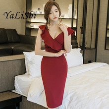 New Summer Women Dress Red Black V Neck Spaghetti Strap One Shoulder Dresses Office Lady Sexy Party Bandage Bodycon Pencil Dress new summer women dress red black v neck spaghetti strap one shoulder dresses office lady sexy party bandage bodycon pencil dress