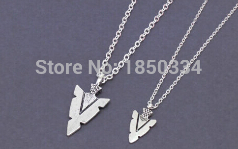HOT Wholesale Vintage Silver Arrow or tips Charms Statement Collar Choker Long Chain Necklaces Pendants Jewelry B24