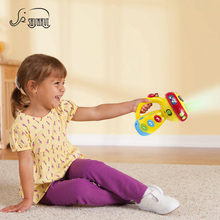 Baby Multifunction Luminous Flashlight Projection Lamp Toys Sleeping Light-up Spin Toy Color Music Sounds Learning Toy For Kids