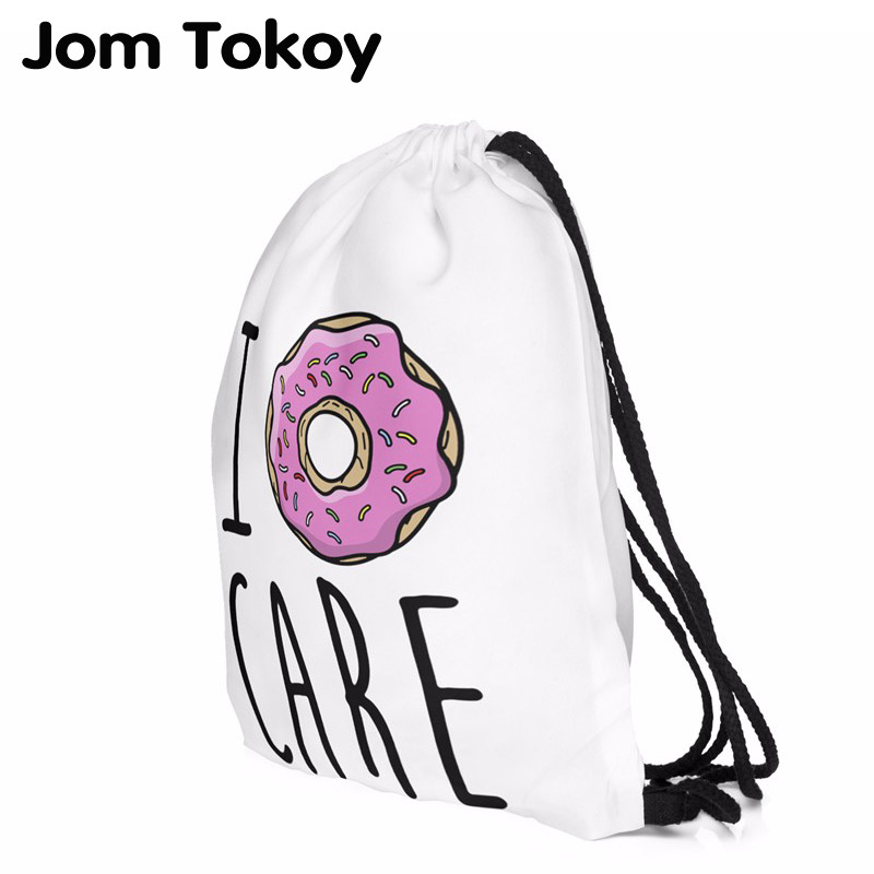 New Fashion Escolar Backpack 3D Printing Travel Softback Women Mochila Donut  Drawstring Bag Backpacks For Teenage Girls
