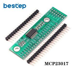 MCP23017 I2C интерфейс 16 бит модуль расширения ввода/вывода, штыревая панель платы IIC в GIPO конвертер 25mA1 привод питания для Arduino и C51