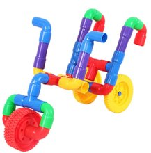 S13456 JingQ Plastic Pipeline Horn Construction Assembling DIY Puzzle Set Educational Toy for Baby Children Kids