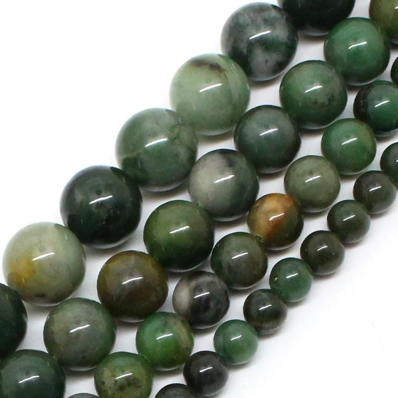 Genuine Jade Beads: Natural Stone Beads AAA+ Genuine African Jade Beads For