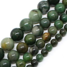 Natural Stone Beads AAA+ Genuine African Jade Beads For Jewelry Making 15inch 6/8/10/12mm Spacer Beads Diy Jewelry