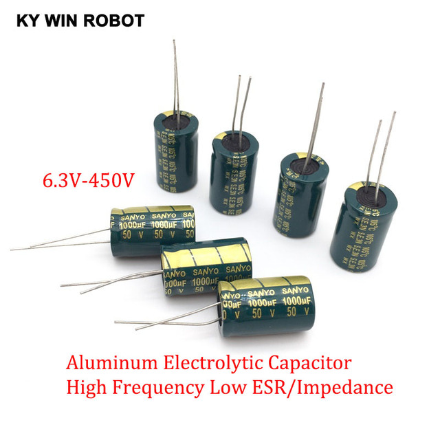 2-50pcs 10V 16V 25V 35V 50V High Frequency Low ESR Aluminum Capacitor 100UF 220UF 330UF 470UF 680UF 1000UF 1500UF 2200UF 3300UF 1