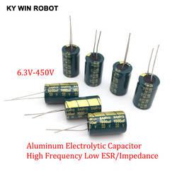 2-50 штук, 10 видов V 16 V, алюминиевая крышка, 25В 35В с алюминиевой крышкой, 50В высокая частота низкая ESR Алюминий конденсатор с алюминиевой