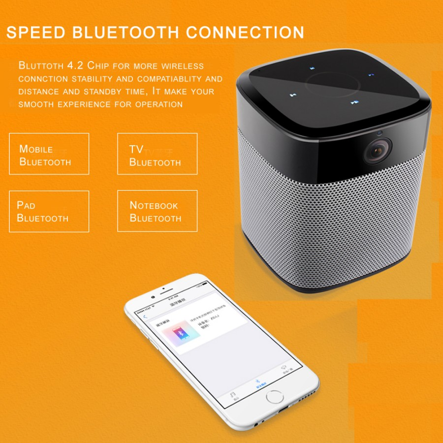 Panoramic 180Degree 1080P HD Wifi IP Camera Built-in Bluetooth4.2 2X5W Stereo Speaker Dual Card for Recording & Playing Free APP_F8