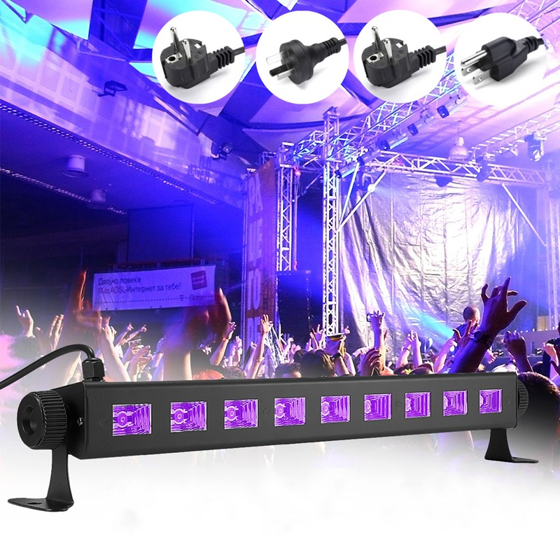 LED Purple Stage Lighting Effect UV Lamp Light UK/EU/US/AU Plug For Disco KTV Club Bar Party Indoor Holiday Decoration Lighting