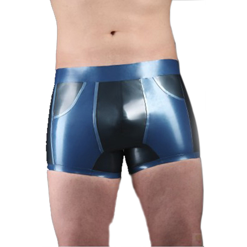 2017 Sexy Latex Briefs Rubber Briefs With Attached Condom