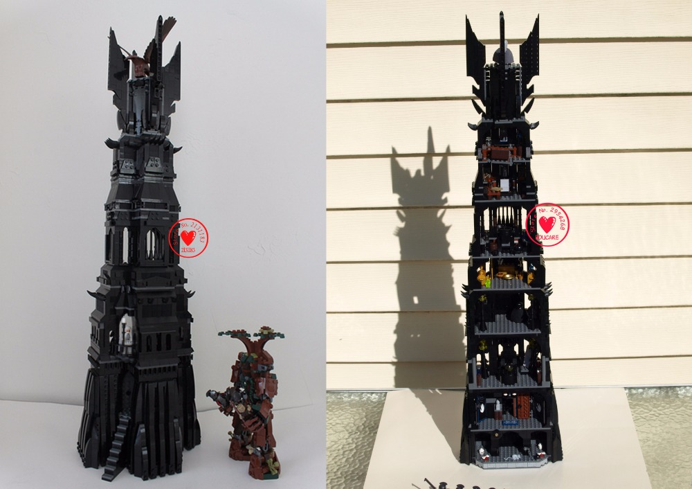 16010 2430Pcs Lord of the Rings LEPIN The Tower of Orthanc Model Building Kits Set Blocks Bricks Toys Gift Compatible 10237 hot sale the hobbit lord of the rings mordor orc uruk hai aragorn rohan mirkwood elf building blocks bricks children gift toys