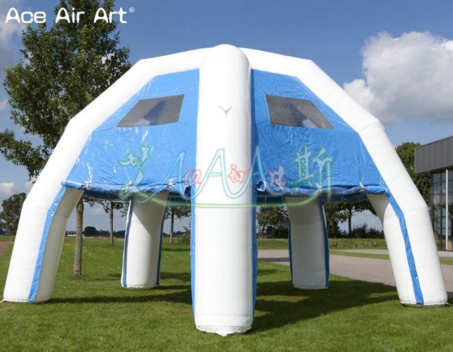 Tente d'araignée gonflable sur mesure 8 m abri de voiture, chapiteau de dôme d'événement de partie pour des divertissements et des expositions en vente