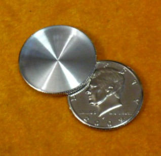 Expanded Shell Half Dollar (Head) Magic Tricks Appearing Vanish Coin Magie Accessories Close Up Gimmick Prop Illusions Toys