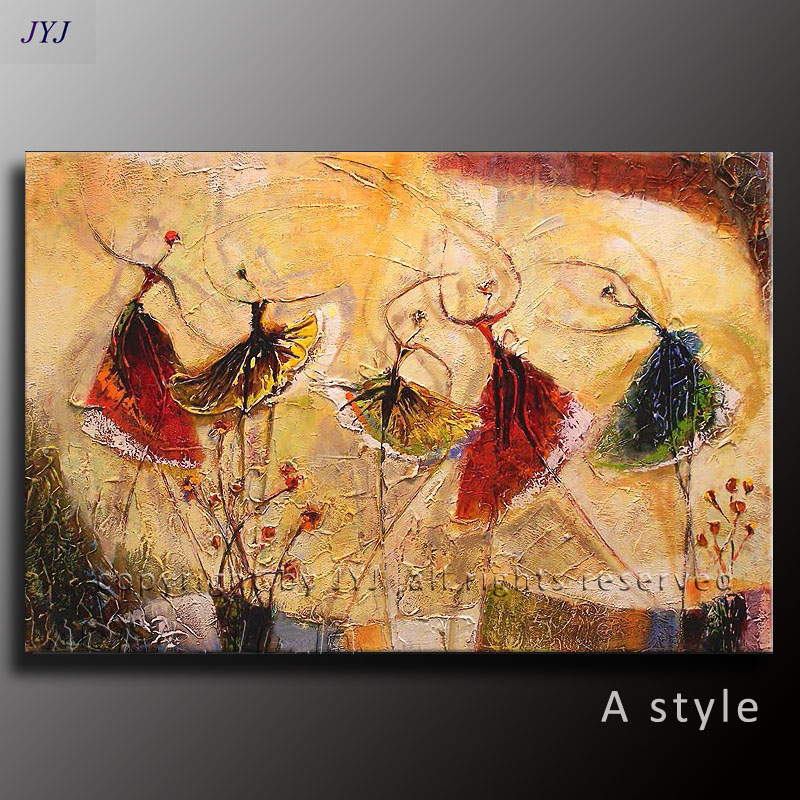 Textured Ballet Dance Handpainted Modern Abstract Oil Painting on ...