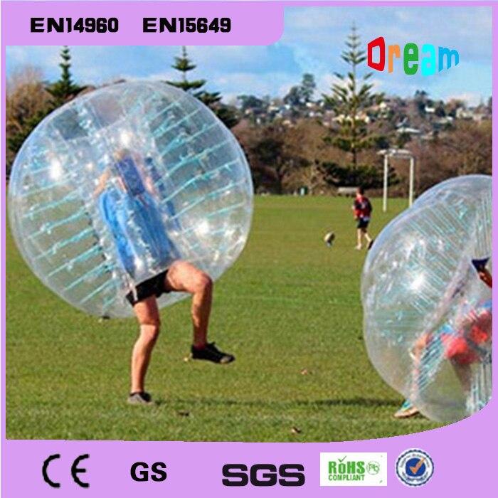 Livraison gratuite 1.5 m gonflable humain Hamster balle bulle Football bulle ballon Football Zorb balle PVC Transparent jeux de plein air jouets - 2