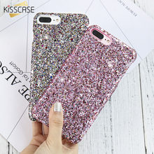 KISSCASE Glitter Sequins Case For iPhone 6 6s Plus Slim Cover 7 Shiny Colorful PC Coque