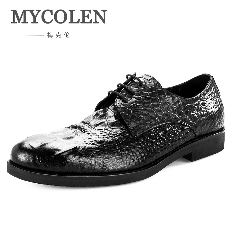 MYCOLEN The New Listing Male Wedding Shoes Top Quality Genuine Leather Men Dress Shoes Men Business Durable Derby Man Shoes