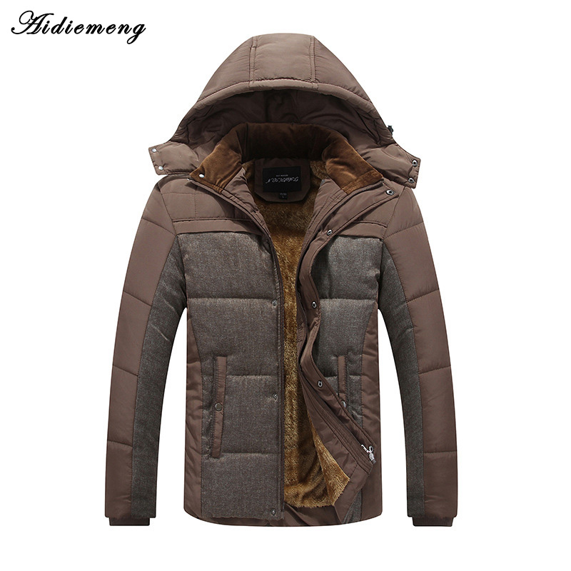 2017 Aidiemeng Winter Parka Men Jacket Fashion Hooded Jacket Cotton Warm Jacket Coat Men Thick Down Parkas Male Outwear Clothing 2017 male parkas outwear coats fashion parkas casul winter jacket men warm brand clothing casaco masculino padded thick coat