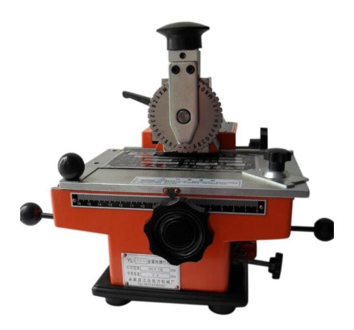 Machine de marquage manuelle en aluminium étiquetage codeur paramètre étiquette en métal imprimante équipement YL-360